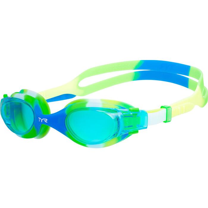Очки для плавания TYR Vesi Tie Dye Junior, голубой (LGVSITD/487)