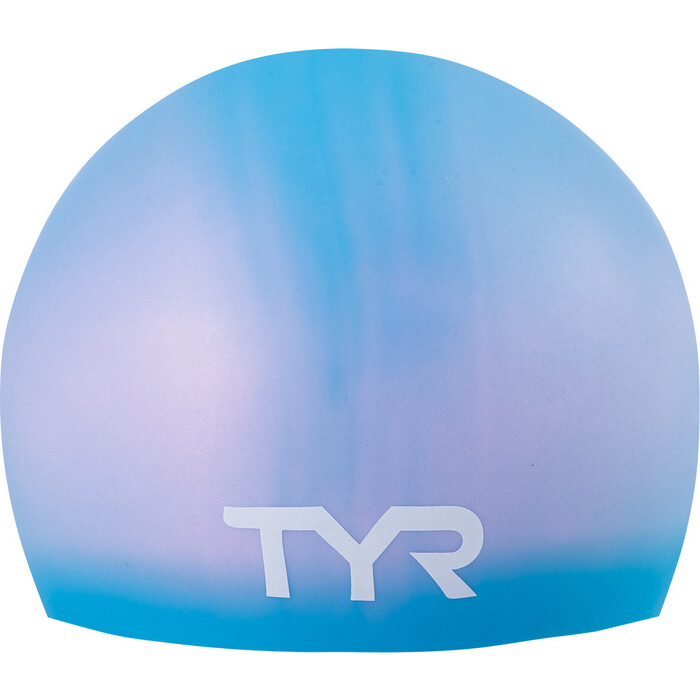 Шапочка для плавания TYR Long Hair Wrinkle-Free Silicone Junior Cap, силикон, голубой (LCSJRL/420)