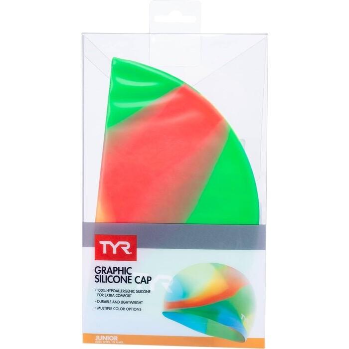 Шапочка для плавания TYR Tie Dye Junior Swim Cap, силикон, синий (LCSJRTD/465)