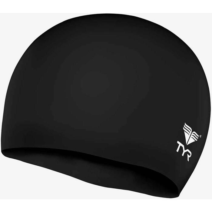 Шапочка для плавания TYR Wrinkle Free Junior Silicone Cap, силикон, черный (LCSJR/001)