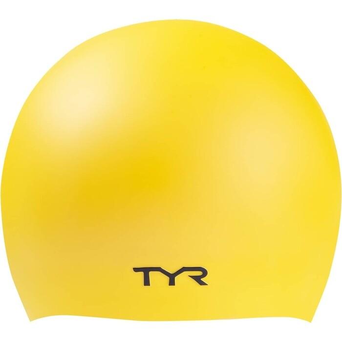 Шапочка для плавания TYR Wrinkle Free Silicone Cap, силикон, желтый (LCS/720)