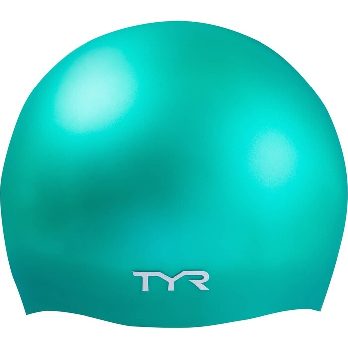 Шапочка для плавания TYR Wrinkle Free Silicone Cap, силикон, зеленый (LCS/310)