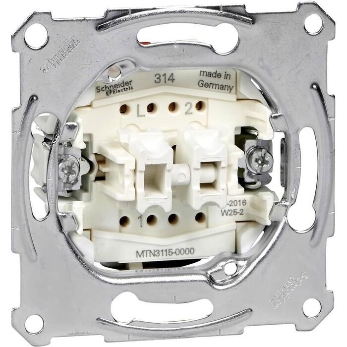 Выключатель Schneider Electric двухклавишный Merten QuickFlex MTN3115-0000