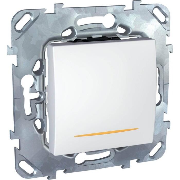 Выключатель Schneider Electric одноклавишный 2P с подсветкой Unica 16A 250V MGU5.262.18SZD