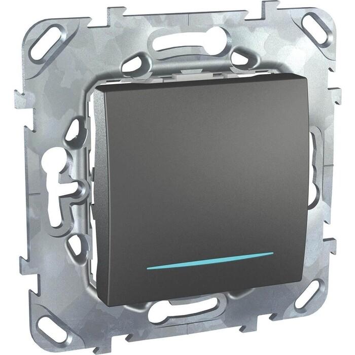 Выключатель Schneider Electric одноклавишный с подсветкой Unica MGU5.201.12NZD