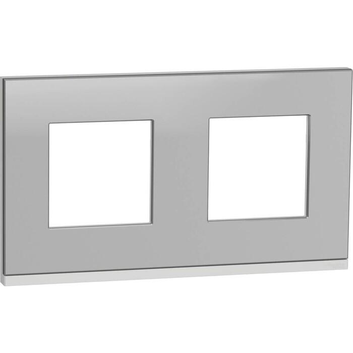 Рамка Schneider Electric 2-постовая Unica New NU600480