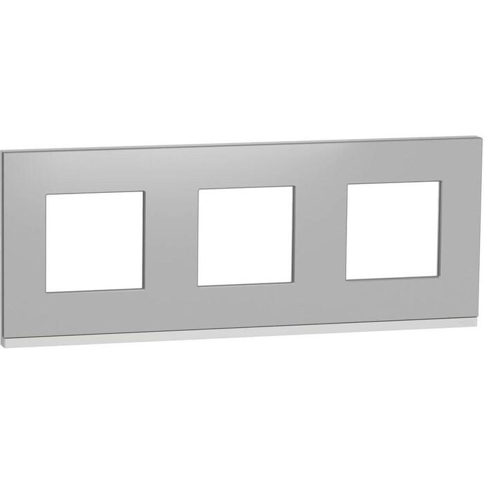 Рамка Schneider Electric 3-постовая Unica New NU600680