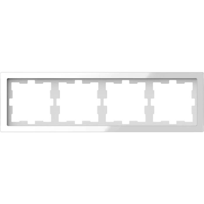 Рамка Schneider Electric 4-постовая Merten D-Life MTN4040-6520
