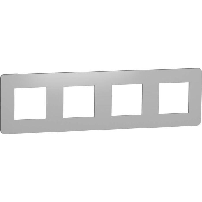 Рамка Schneider Electric 4-постовая Unica New NU280855