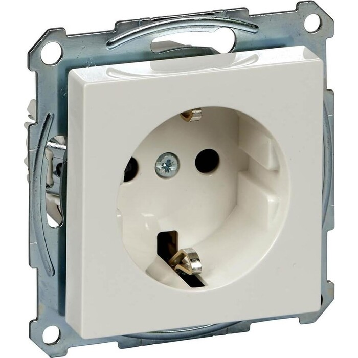 Фото - Розетка Schneider Electric Merten System M с/з и шторками MTN2300-0319 розетка schneider electric merten system m с з и шторками mtn2300 0319