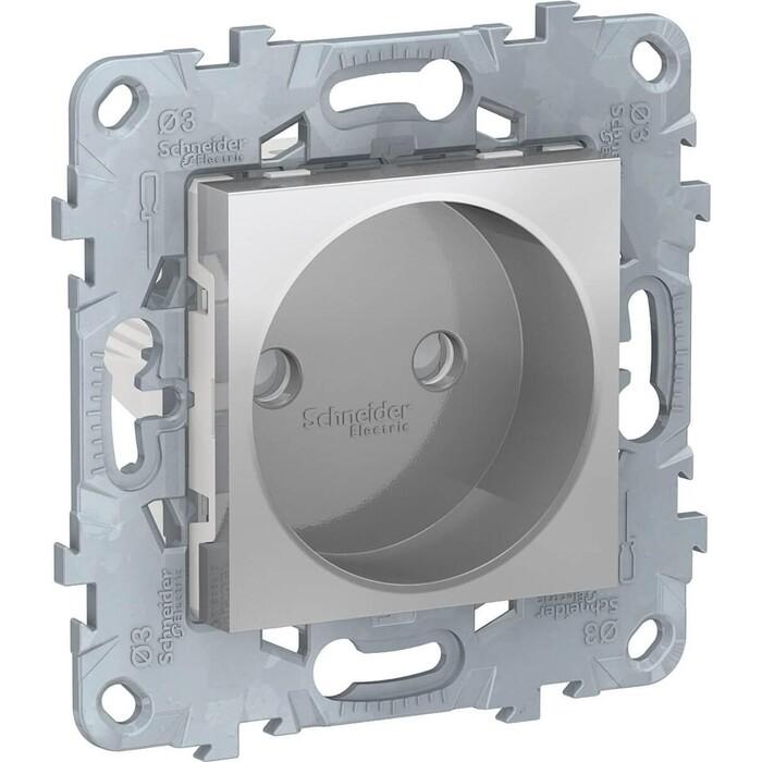 Розетка Schneider Electric Unica New б/з со шторками 16A 250V NU503330