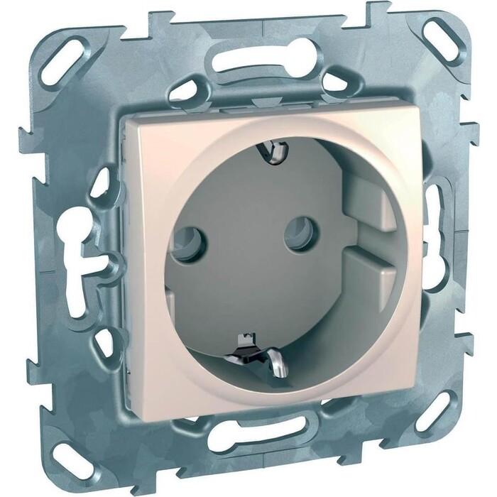 Розетка Schneider Electric Unica с/з со шторками б/зажим клеммы 16A 250V MGU5.057.25ZD