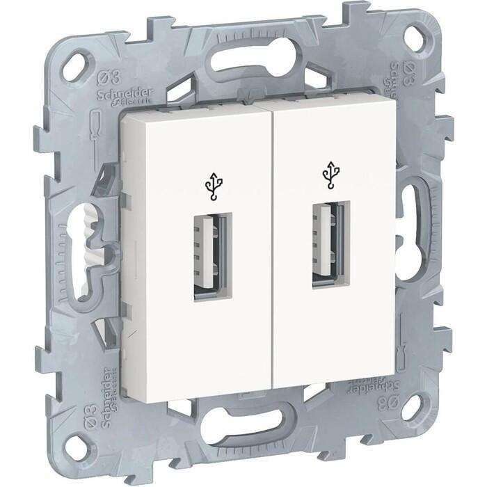 Розетка Schneider Electric компьютерная USBx2 Unica New NU542718