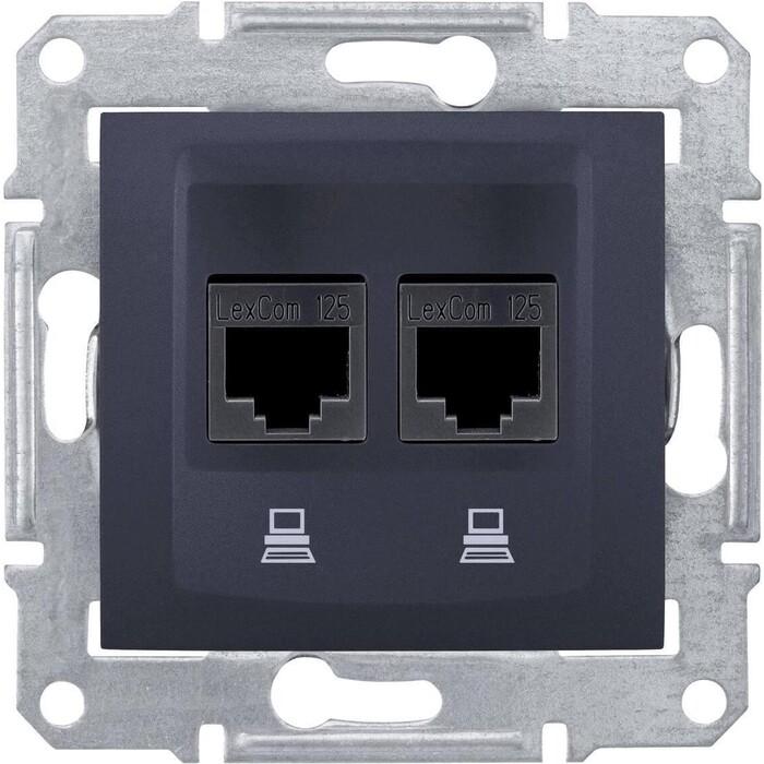 Розетка Schneider Electric компьютерная 2xRJ45 Sedna UTP SDN4400170