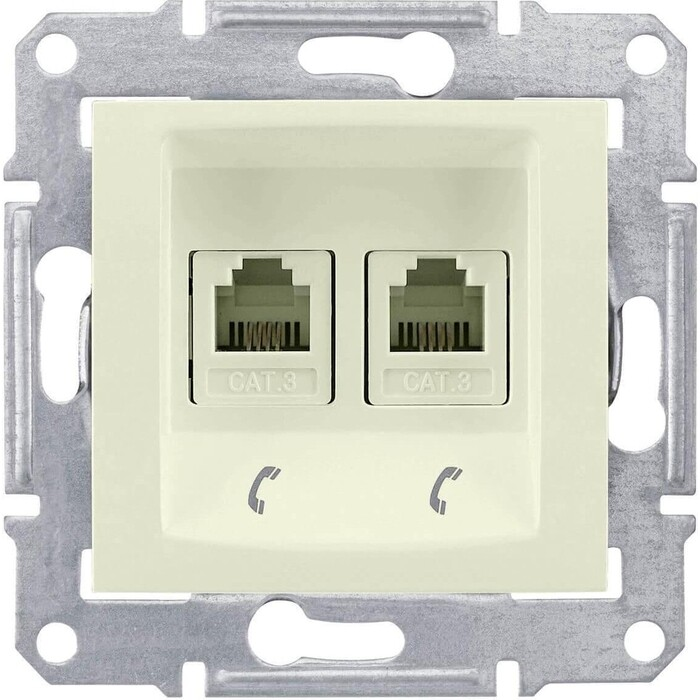 Розетка Schneider Electric телефонная 2xRJ11 Sedna SDN4201147