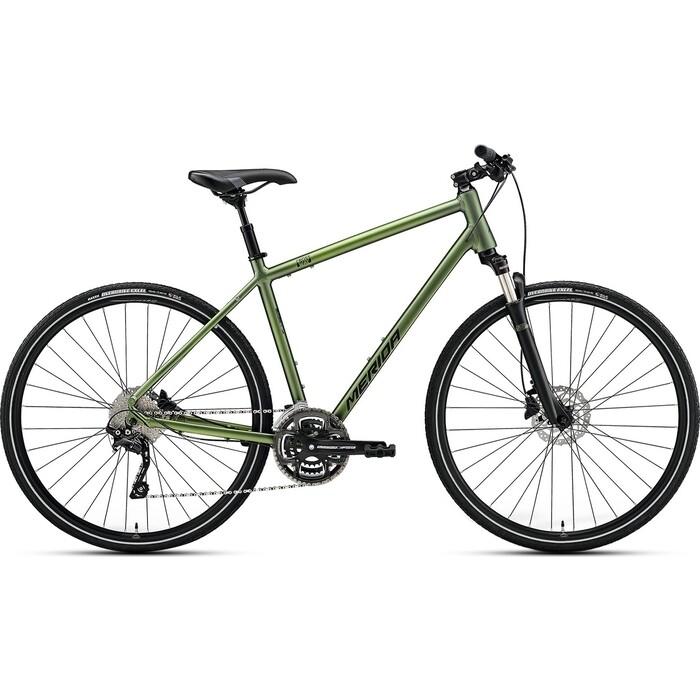 Фото - Велосипед Merida CROSSWAY 300 (2021) светлый/зеленый M велосипед merida ride cf team 2014