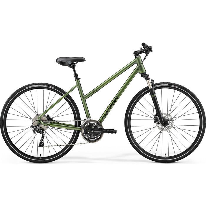 Фото - Велосипед Merida CROSSWAY 300 LADY (2021) светлый/зеленый M велосипед merida ride cf team 2014