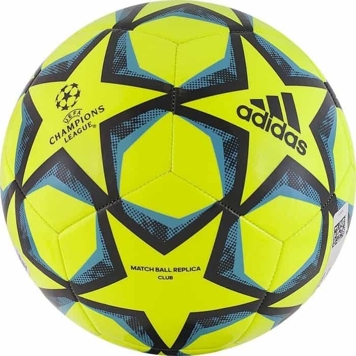 мяч футбольный adidas conext19 tcpt dn8636 белый желтый оранжевый размер 5 Мяч футбольный Adidas Finale 20 Club FS0259, р.5