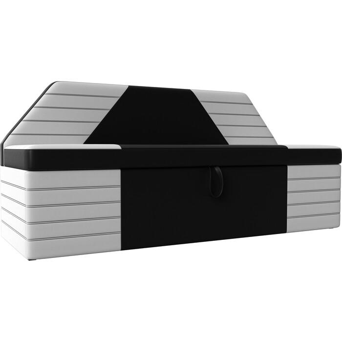 Фото - АртМебель Кухонный прямой диван Дуглас экокожа черный белый кухонный прямой диван артмебель стоун эко кожа черный белый