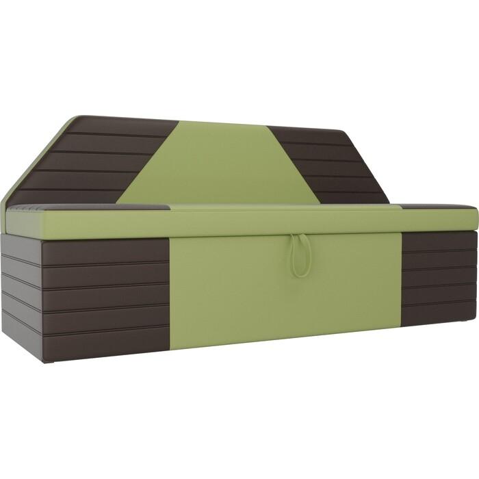 Фото - АртМебель Кухонный прямой диван Дуглас экокожа зеленый коричневый прямой диван артмебель валенсия экокожа коричневый книжка