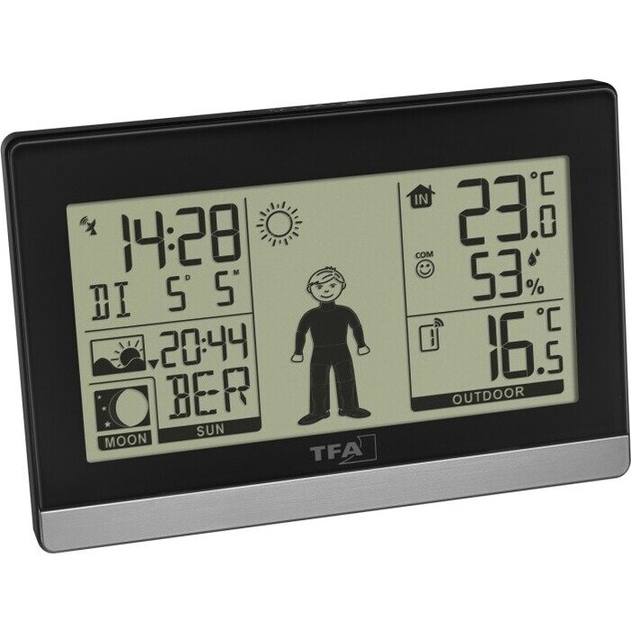 Цифровая метеостанция TFA 35.1159.01, черная