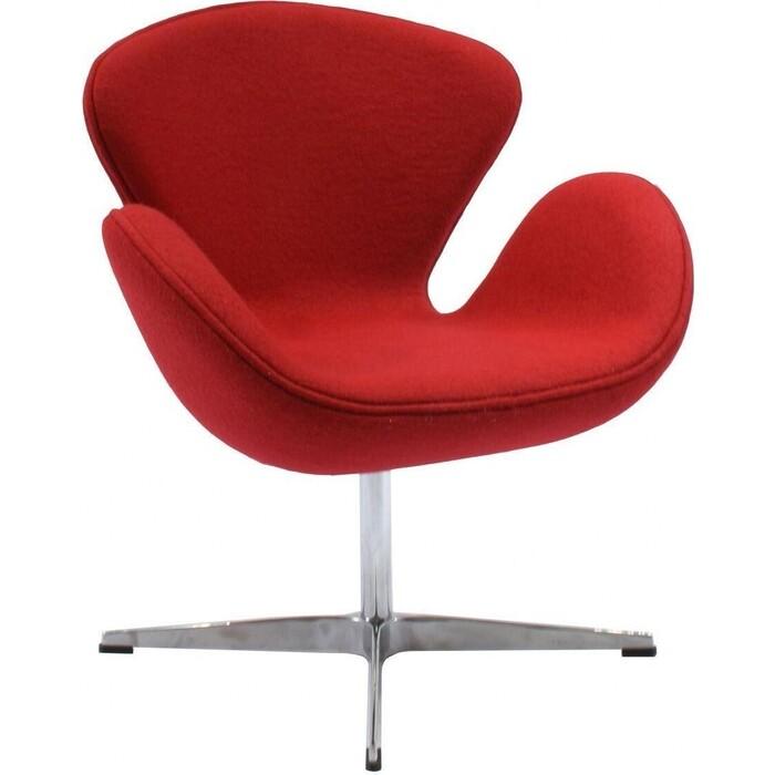 Кресло Bradex Swan chair красный кашемир