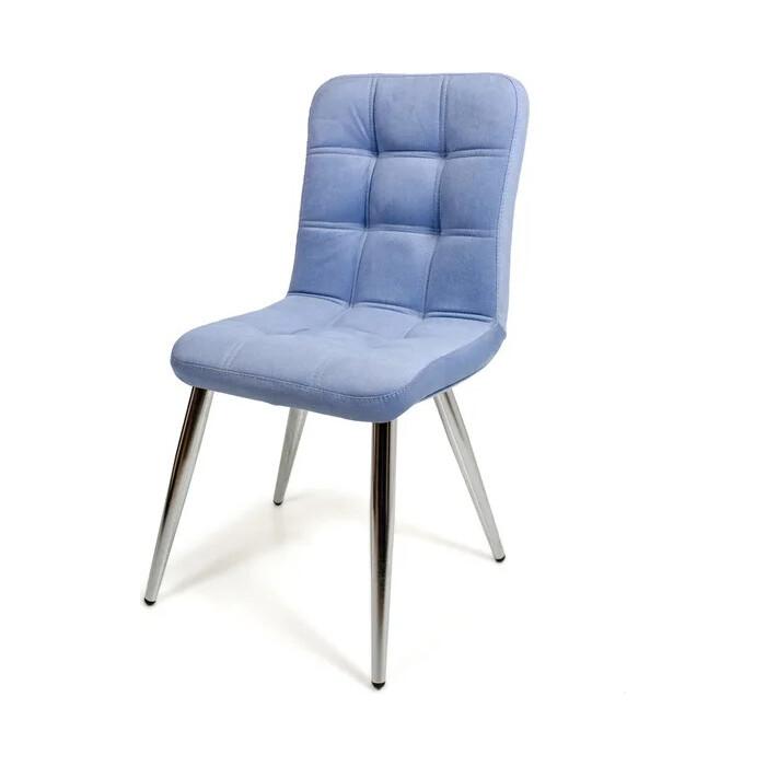 Стул Бител Милан (хром, велюр голубой) стул бител лион хром с 116