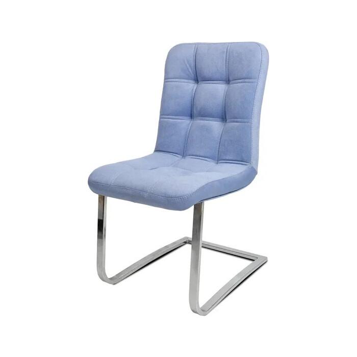 Стул Бител Турин (хром, велюр голубой) стул бител лион хром с 116