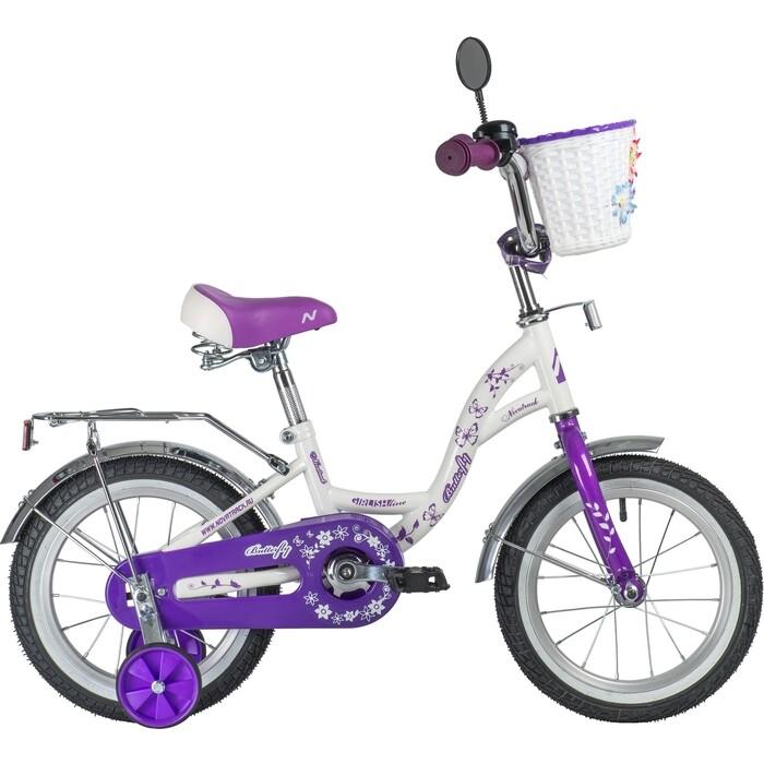 Велосипед NOVATRACK 14 BUTTERFLY белый-фиолетовый