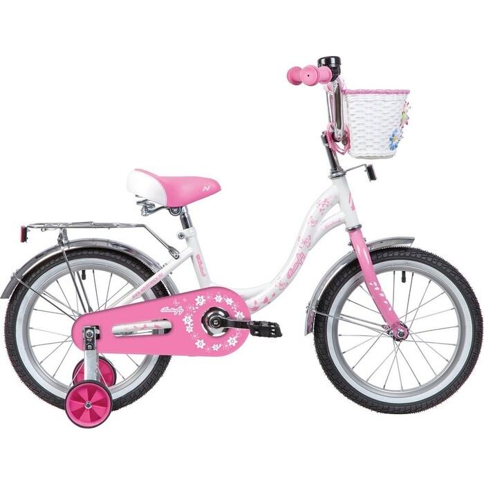 Велосипед NOVATRACK 16 BUTTERFLY белый-розовый