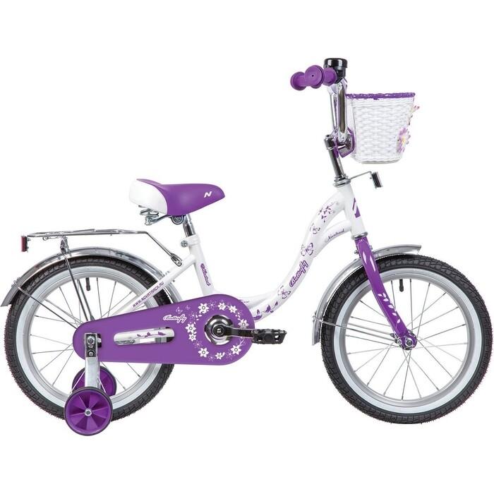 Велосипед NOVATRACK 16 BUTTERFLY белый-фиолетовый