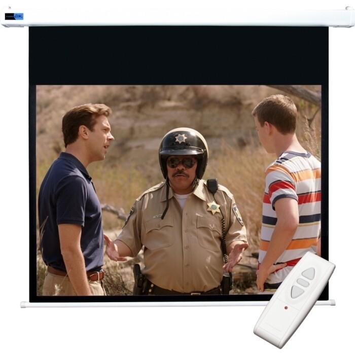Фото - Экран для проектора Sakura Cinema S'OK SCPSM-298x168FG-ED60 Pro 135'' 16:9 настенно-потолочный, моторизованный, Fiberglass, белый корпус, ED 60см экран для проектора sakura 332x186 motoscreen 16 9 настенно потолочный моторизованный 150