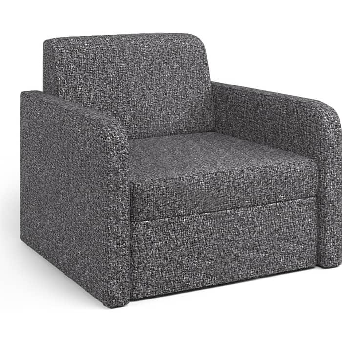 Шарм-Дизайн Кресло-кровать Куба велюр серый