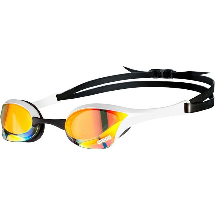 Очки для плавания Arena Cobra Ultra Swipe MR арт. 002507310, зеркальные бел-черн оправа