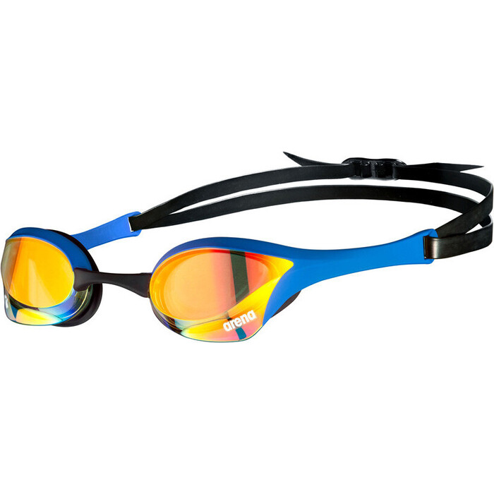 Очки для плавания Arena Cobra Ultra Swipe MR арт. 002507370, зеркальные син оправа