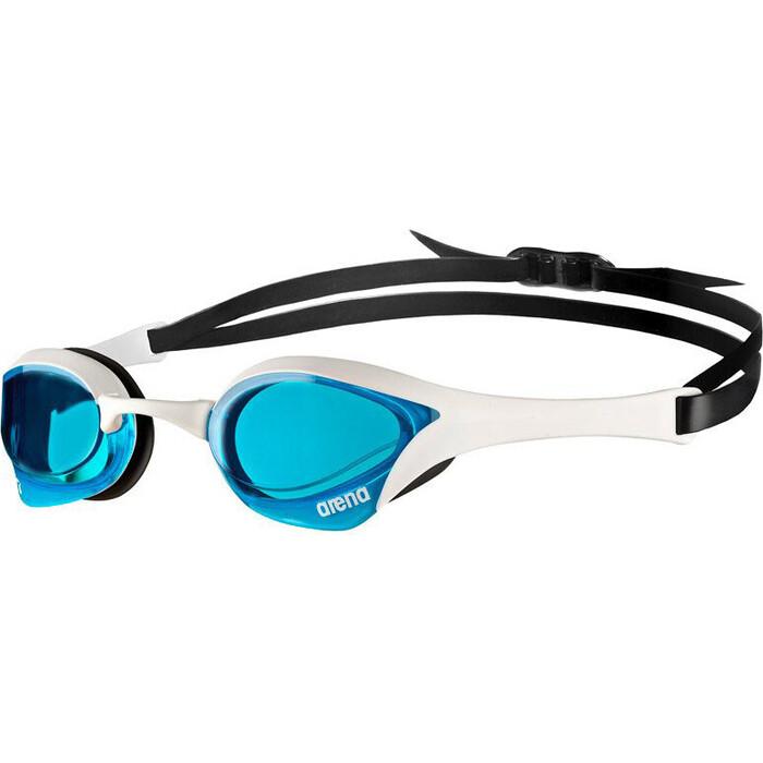 Очки для плавания Arena Cobra Ultra Swipe арт. 003929100, голубые линзы, смен.перен., черн-бел оправа