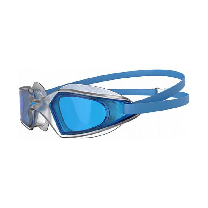 Очки для плавания Speedo Hydropulse арт. 8-12268D647, голубые линзы, прозрачныеая оправа
