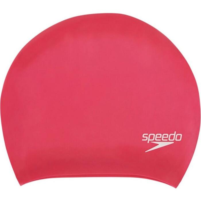 Шапочка для плавания Speedo Long Hair Cap арт. 8-06168A064, розовый, силикон