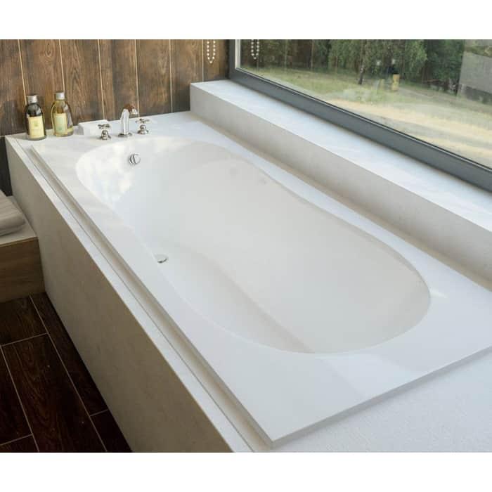 Ванна из литого мрамора Эстет Лаура 170x70 с ножками