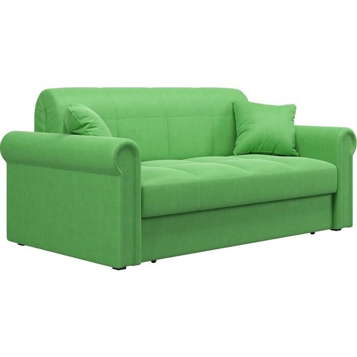Диван Агат Палермо 1.8 - Velutto 31 зеленый/кант Velutto 31 зеленый