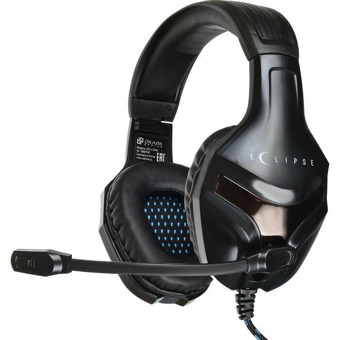 Гарнитура Oklick HS-L370G ECLIPSE черный 1.9м мониторные оголовье (HS-L370G)
