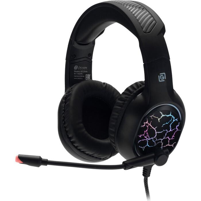 Гарнитура Oklick HS-L930G SNORTER черный 2м мониторные USB оголовье (HS-L930G)
