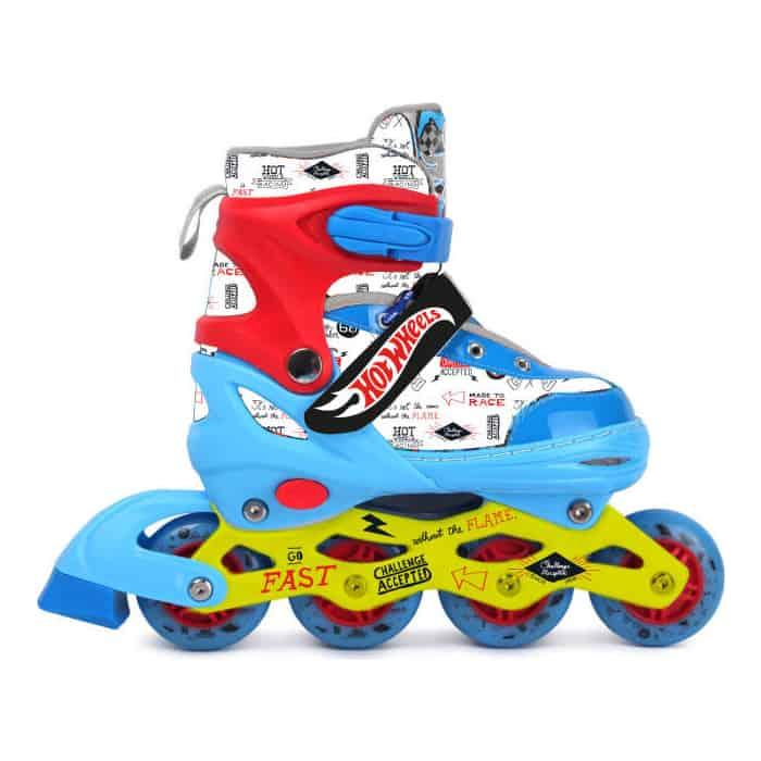 Роликовые коньки 1Toy Hot Wheels, PU колеса со светом, размер S (30-33)