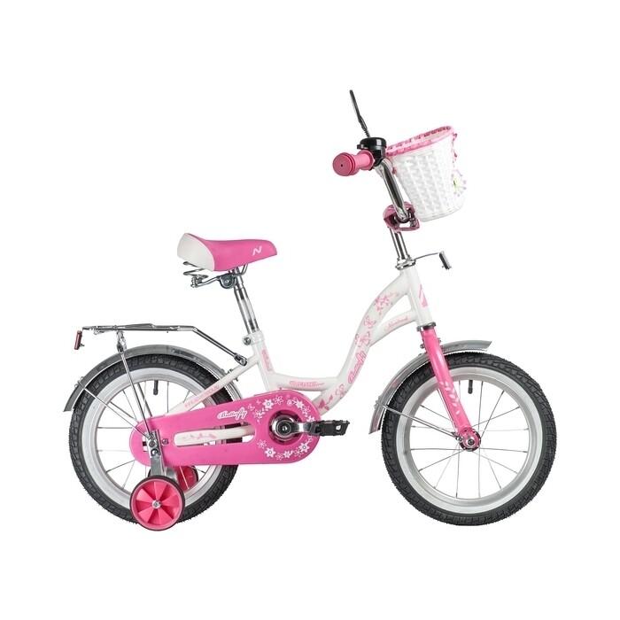 Велосипед NOVATRACK 14 BUTTERFLY белый-розовый