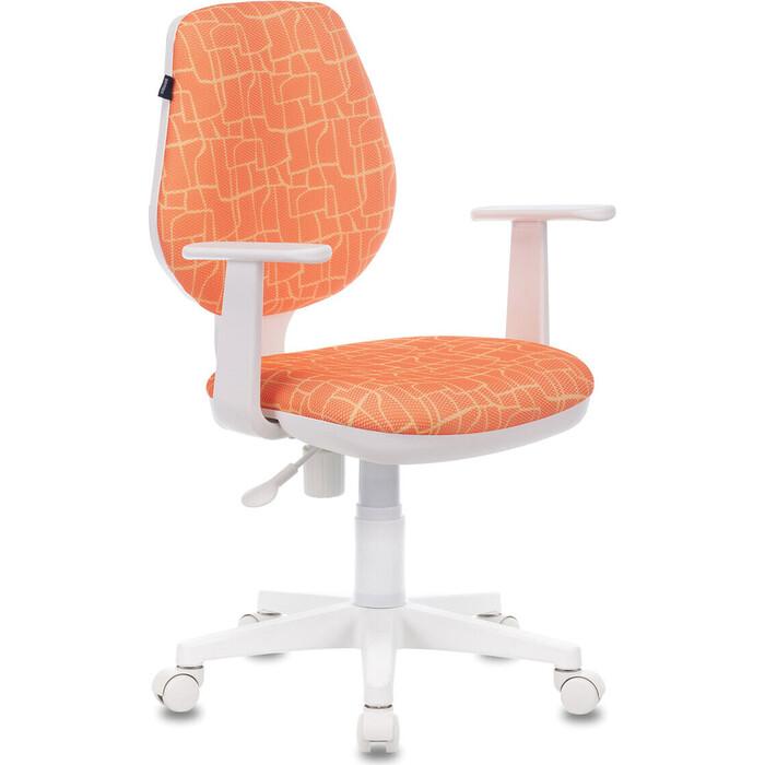 Кресло офисное Brabix Fancy MG-201W с подлокотниками, пластик белый рисунком Giraffe 532407