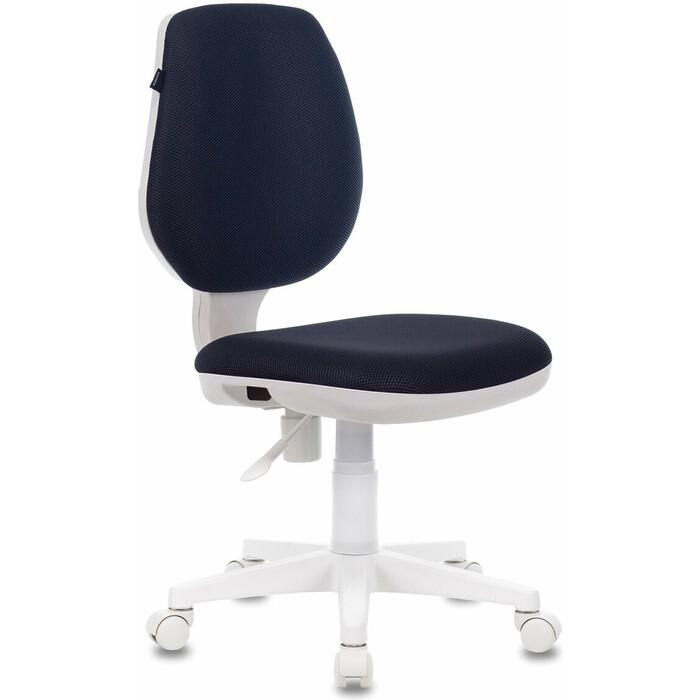 Кресло офисное Brabix Fancy MG-201W без подлокотников, пластик белый серое TW-12 532412
