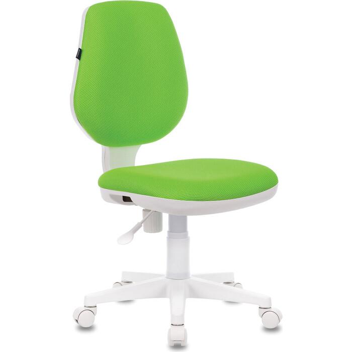 Кресло офисное Brabix Fancy MG-201W без подлокотников, пластик белый салатовое TW-18 532414