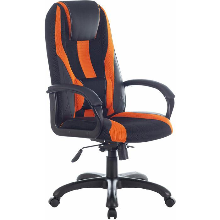Кресло компьютерное Brabix Premium Rapid GM-102 экокожа/ткань черное/оранжевое 532420 кресло компьютерное brabix premium rapid gm 102 нагрузка 180 кг экокожа ткань черное красное 532107
