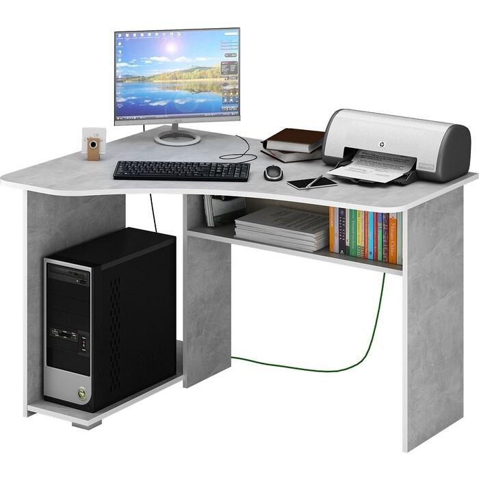 Фото - Стол угловой Мастер Триан-1 бетон МСТ-УСТ-01-ЕО-16 стол компьютерный триан 1