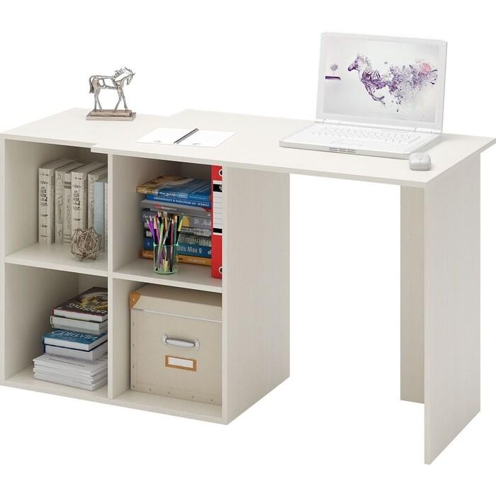 Стол компьютерный Мастер Прайм-36 дуб молочный СТЛ-Прайм-36-ДМ стол для двоих мастер стол для двоих прайм 86 белый стл прайм 86 бт